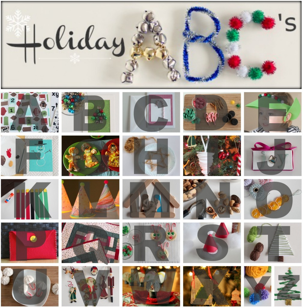 Holiday ABC Kids Craft Series @makeandtakes.com