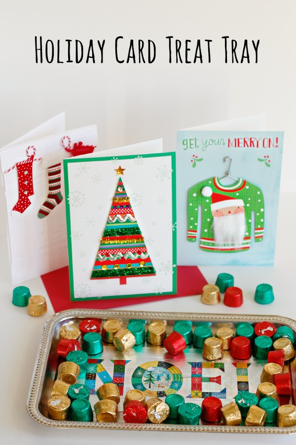 Let S Party With Holiday Card Treat Trays Make And Takes