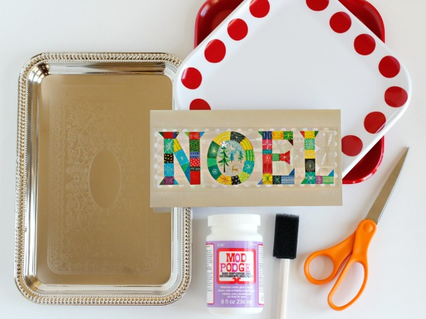 Holiday Card Treat Tray Supplies