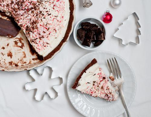 Creamy Peppermint Bark Tart Slice