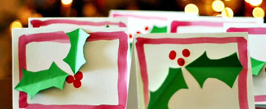 Holly Painted Cards