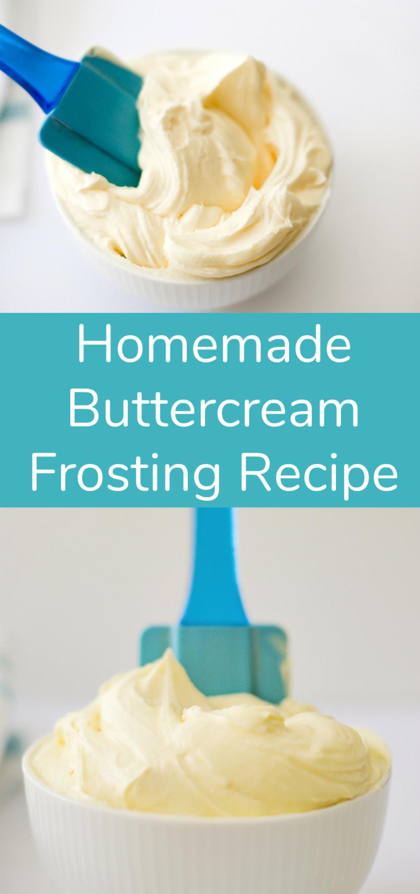 Homemade Buttercream Frosting Recipe