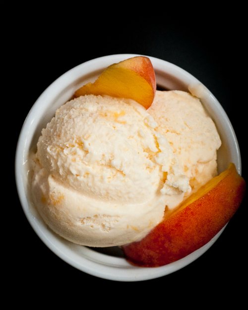 Fresh Peach Ice Cream | Make and Takes