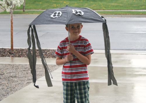 Homemade Spider Umbrella