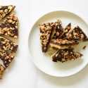 Homemade Toffee with Chocolate and Nuts