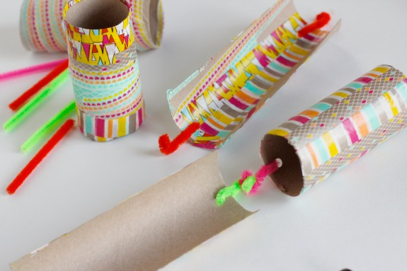 Hooking Pipe Cleaners for Paper Tube Trains
