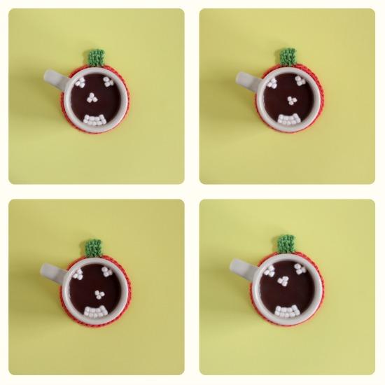 Hot Chocolate Marshmallow Pumpkin Face