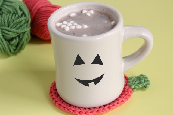 Hot Chocolate Pumpkin Shaped Coaster