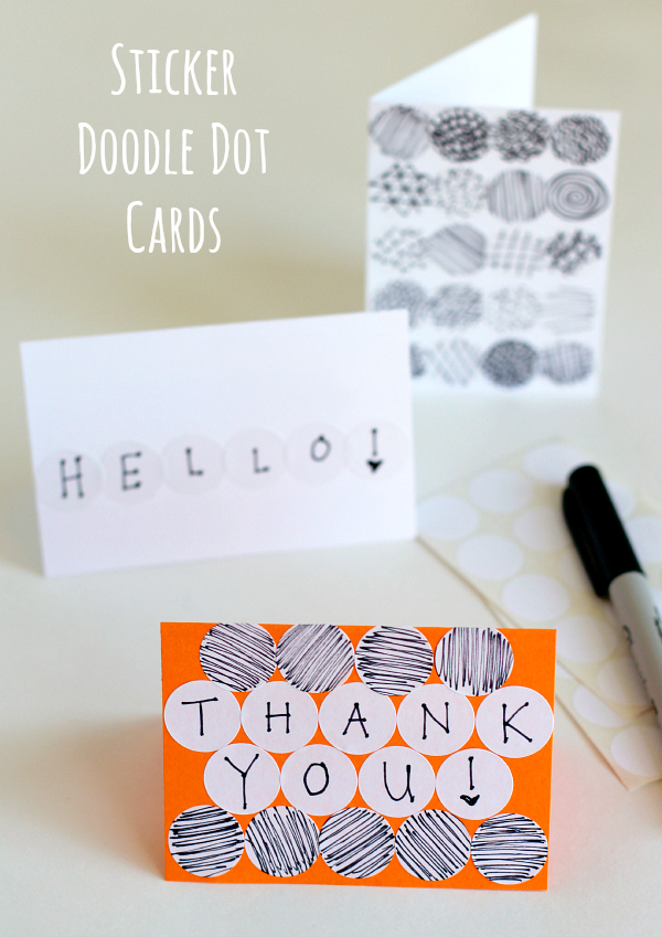 How to Craft Sticker Doodle Dot Cards