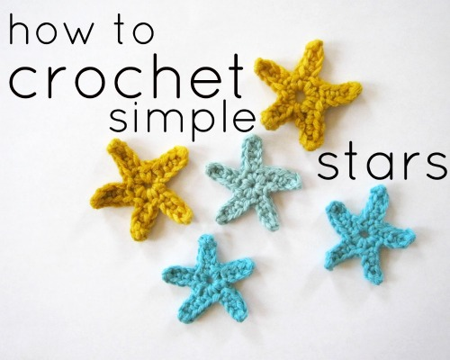 How to Crochet Simple Starfish Stars by full-flower-moon.tumblr.com