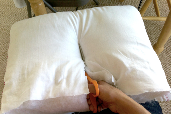 How to Cut Pillows for Sleeping Bags