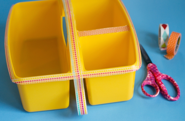 How to Decorate a Washi Tape Craft Caddy
