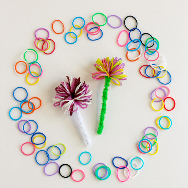 Rainbow Loom Pipe Cleaner Pom Poms | Make and Takes