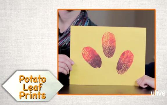 How to Make Potato Leaf Prints makeandtakes.com