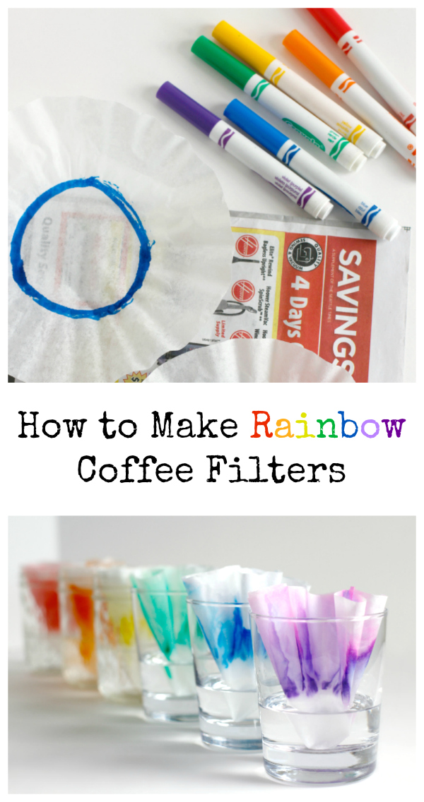How to Make Rainbow Coffee Filters