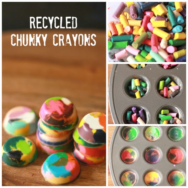How to Make Recycled Chunky Crayons