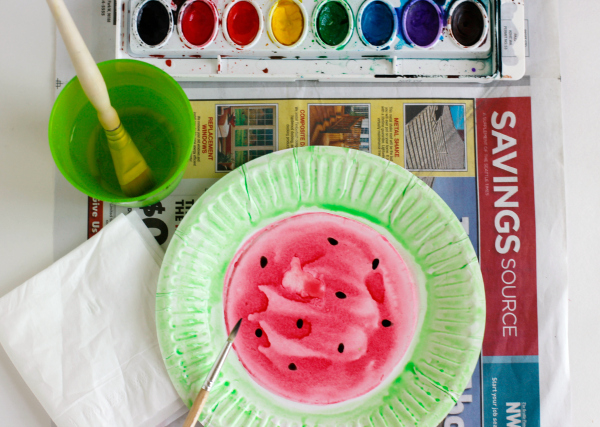 How to Make Watercolor Watermelons