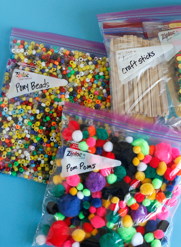 How to Organize Kids Craft Supplies