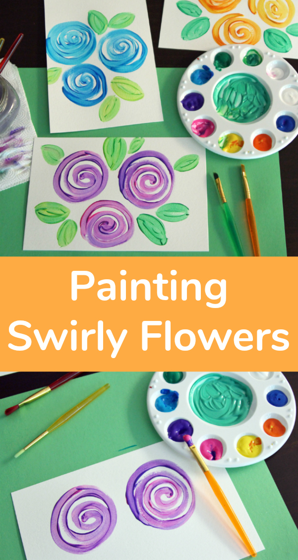 How to Painting Swirly Flowers