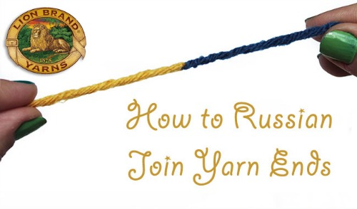 How to Russian Join Yarn Ends