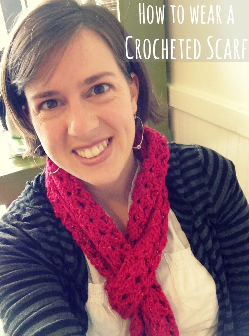 How to Wear a Crocheted Scarf