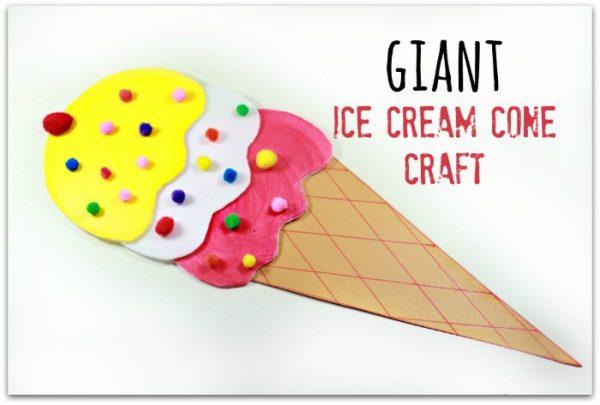 Giant Ice Cream Cone Craft