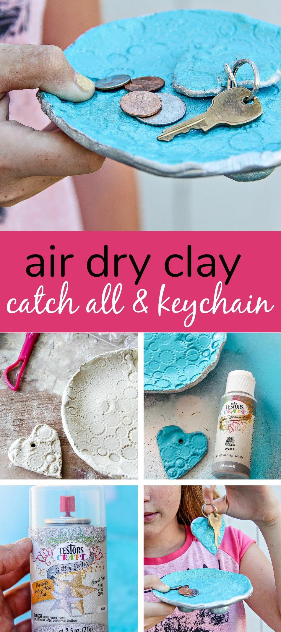 Air Dry Clay DIY keychain