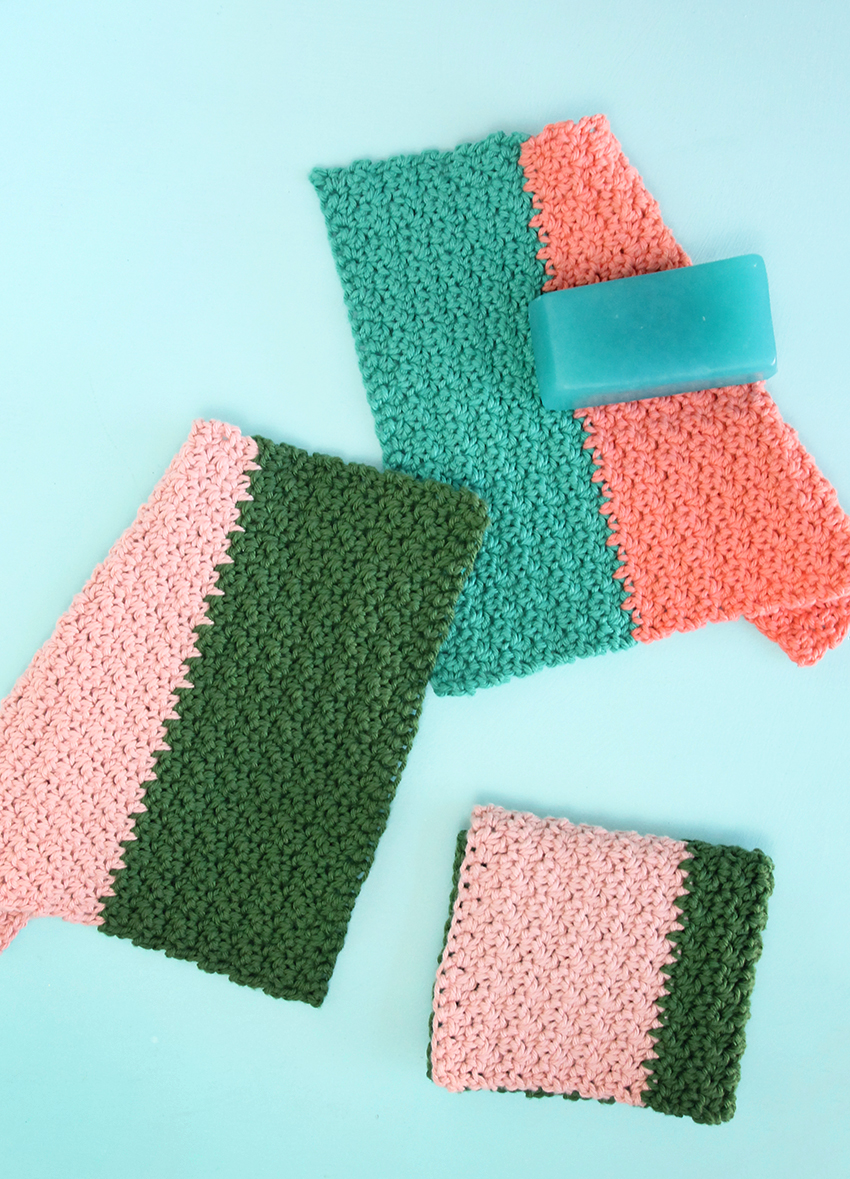 How to make crochet washcloths
