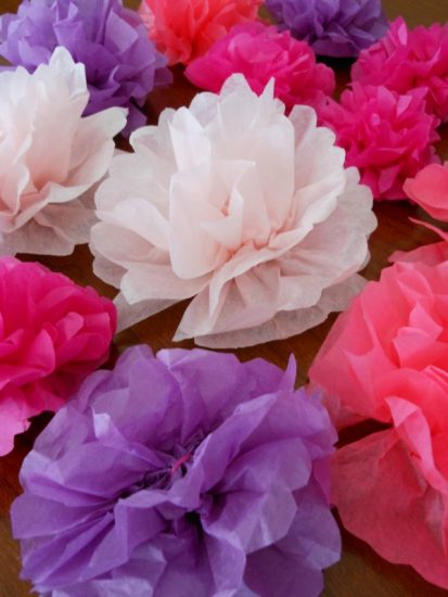 Tissue Paper Flower Napkin Rings