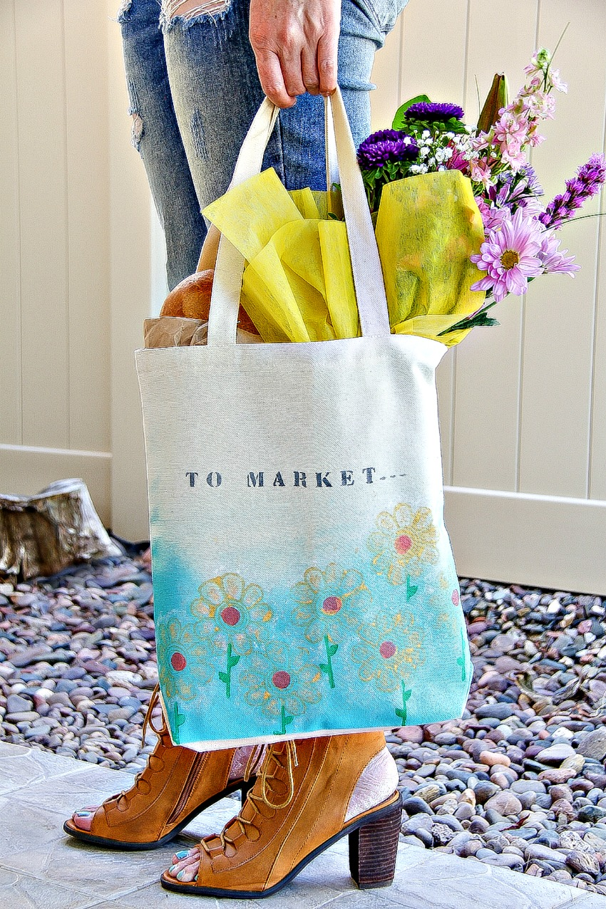 Hand-Painted Shopping Bags For Mom