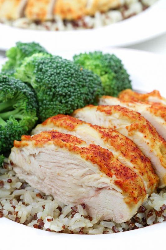 3-Ingredient Hummus-Crusted Chicken