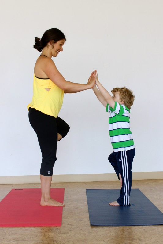 Try the Yoga Tree Pose with Kids