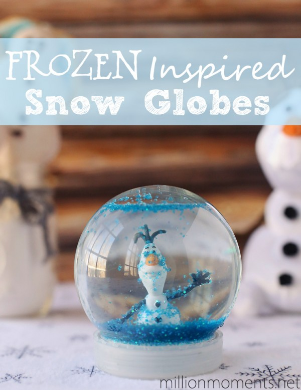 Frozen Inspired Snow Globes