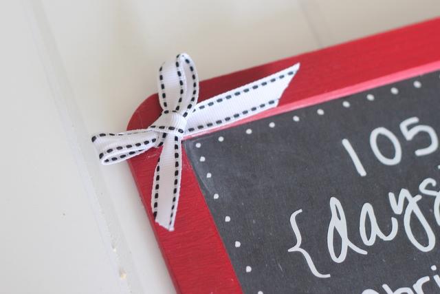 bow holiday chalkboard
