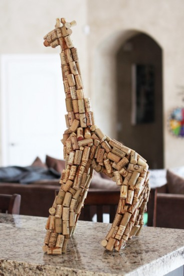 Wine Cork Giraffe