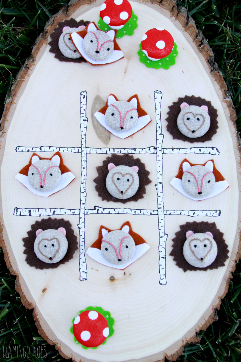 Make Woodland Tic-tac-toe game for kids to play