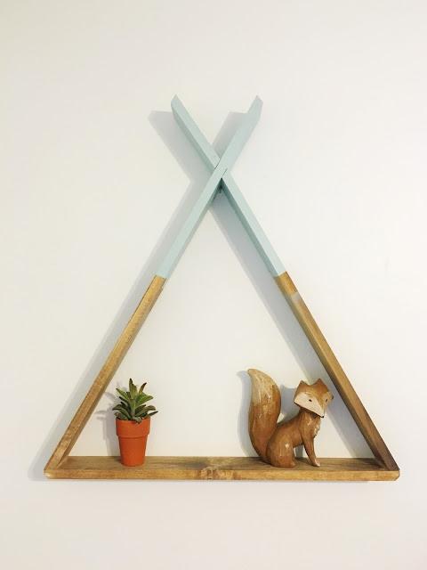 DIY Wooden Teepee Shelf
