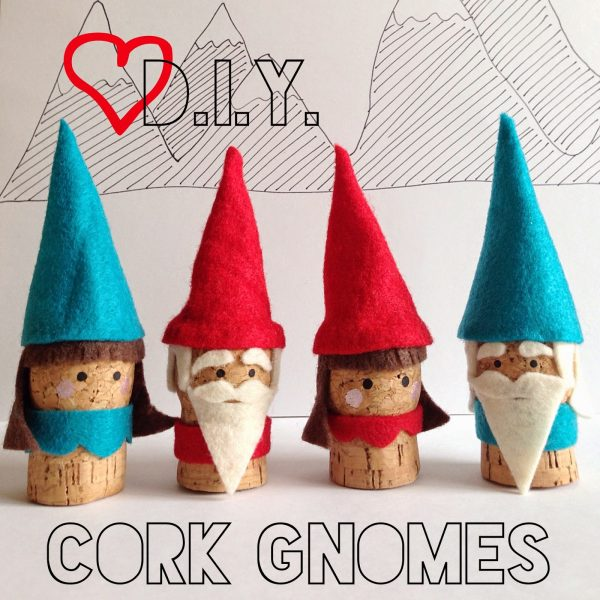 DIY Cork Gnomes