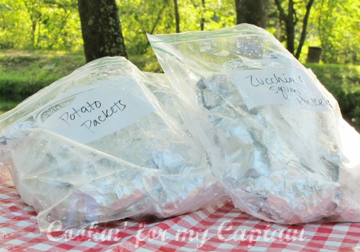 Packing Tinfoil dinners for camping