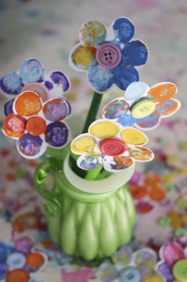 Stamped Flower Craft