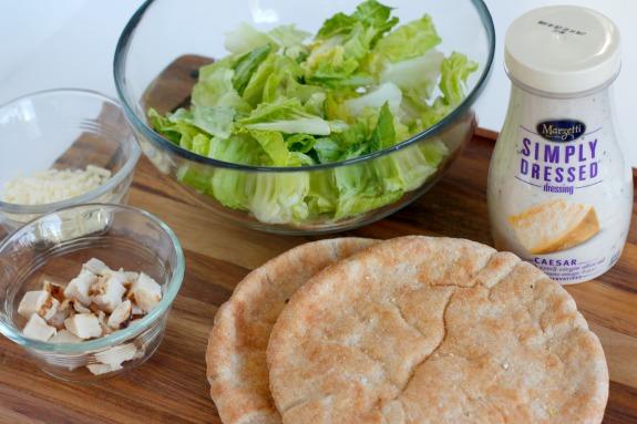 Ingredients for Chicken Caesar Pita Pockets