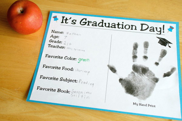 It's Graduation Day Preschool Printable Certificate