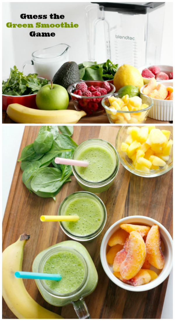 Kid-Friendly Green Smoothie Guessing Game