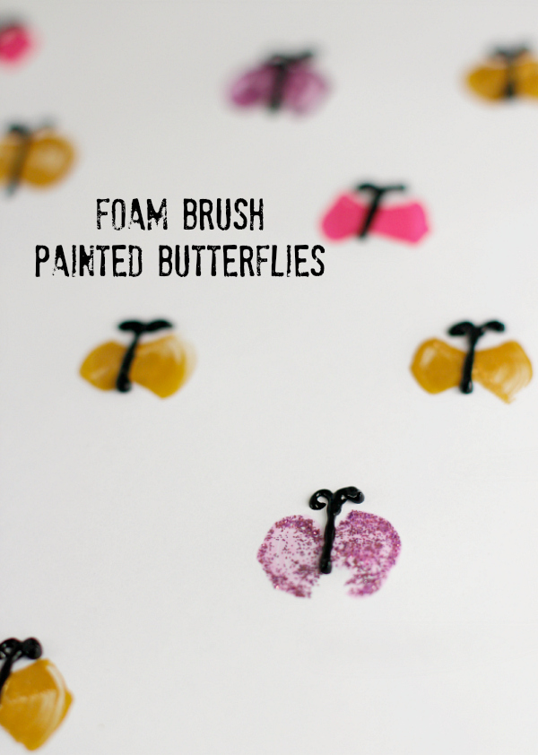 Kids Craft Foam Brush Painted Butterflies