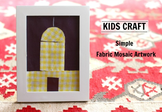 Kids Craft Simple Fabric Mosaic Artwork
