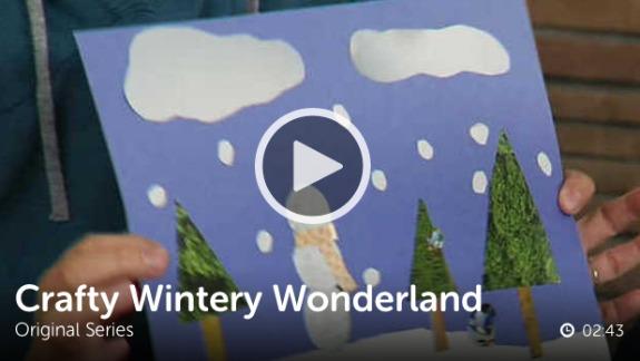 Kids Craft Winter Wonderland Scene @makeandtakes.com