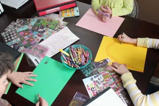 Kids Crafting Binder Covers