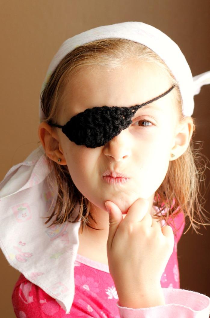 Kids Crochet Pirate Eye Patch, Arrr