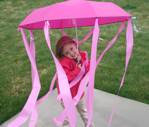 Kids Homemade Jellyfish Umbrella