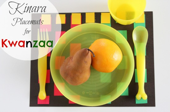 Kinara Placemats for Kwanzaa makeandtakes.com